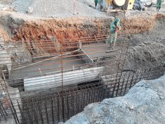 Construction of central shaft 4